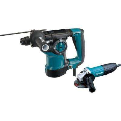 7 Amp 1-1/8 in. Corded SDS-Plus Concrete/Masonry Rotary Hammer Drill with 7.5 Amp 4-1/2 in. Angle Grinder and Hard Case