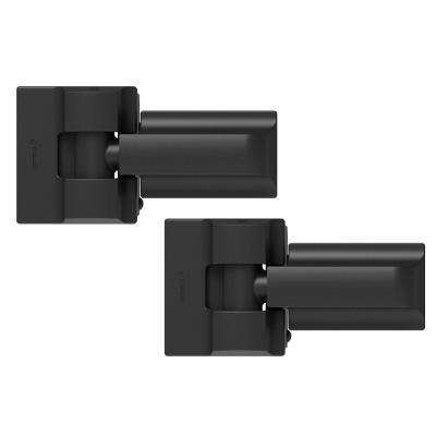 Heavy Duty 4 in. x 14 in. Modern Gate Hinge Pair Black
