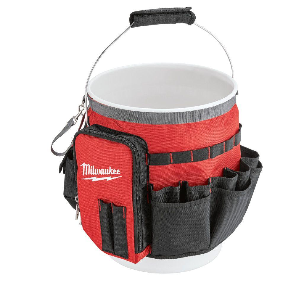 Milwaukee Bucket Organizer Bag 48 22 8175 The Home Depot