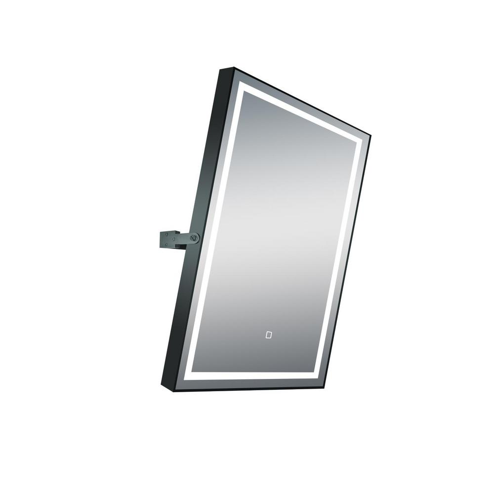 Dreamwerks 24 in. x 32 in. Rotating LED Mirror