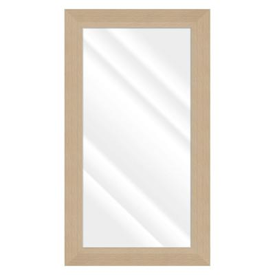 Large Rectangle Natural Beveled Glass Contemporary Mirror (55.5 in. H x 31.5 in. W)
