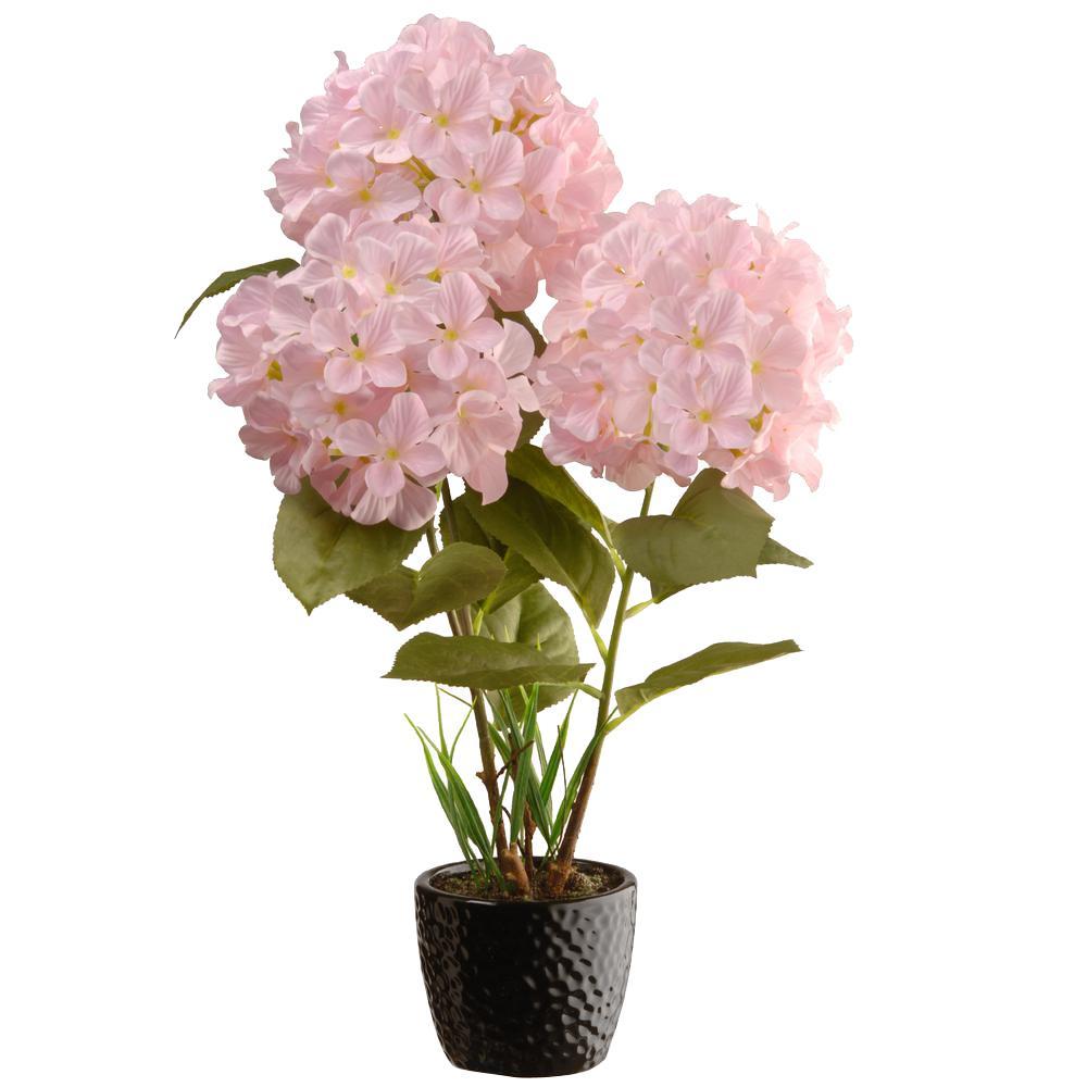 20 in. Pink Hydrangea Flower