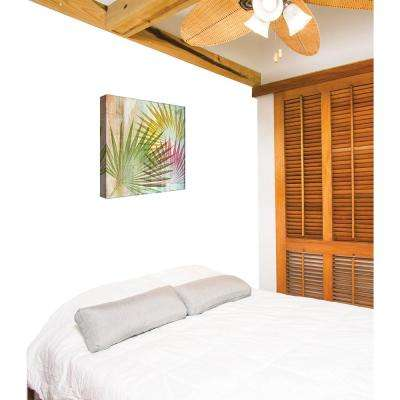 15 in. x 15 in. ''Colorful Palm Leaf'' By PTM Images Printed Canvas Wall Art