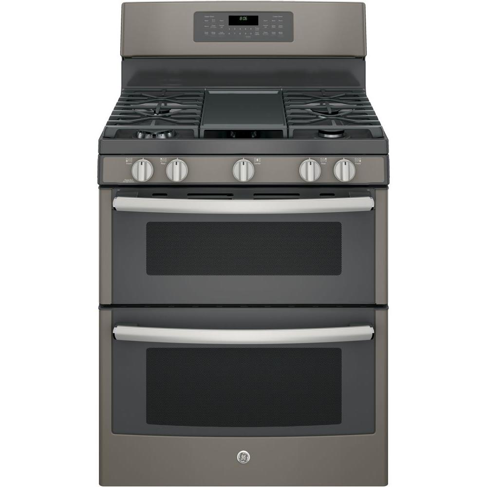 6.8 cu. ft. Double Oven Gas Range with Self-Cleaning and Convection