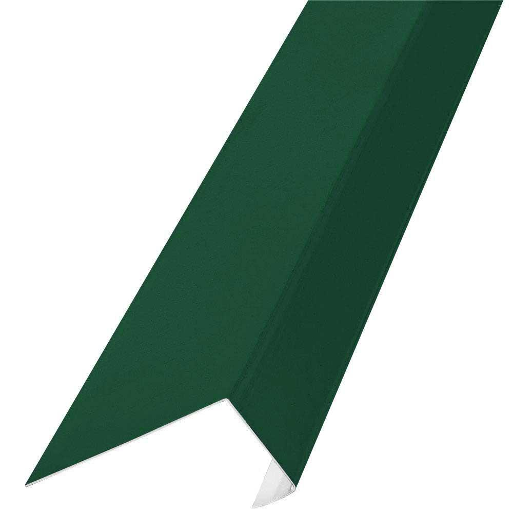 Construction Metals 10 ft. J Channel Galvanized Steel 29-Gauge Roof Flashing in Forest Green