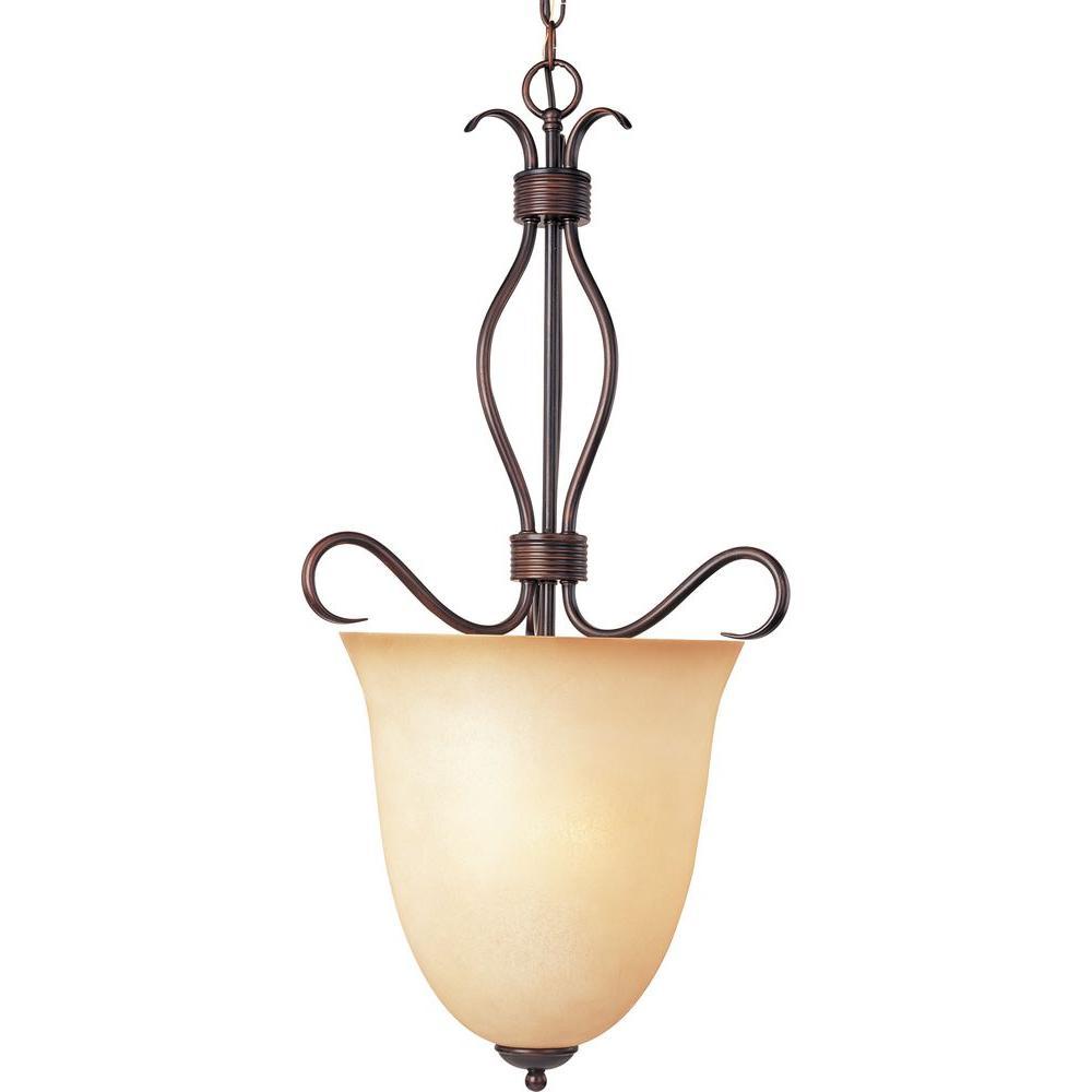 Maxim Lighting Basix 4-Light Oil-Rubbed Bronze Entry Foyer Pendant