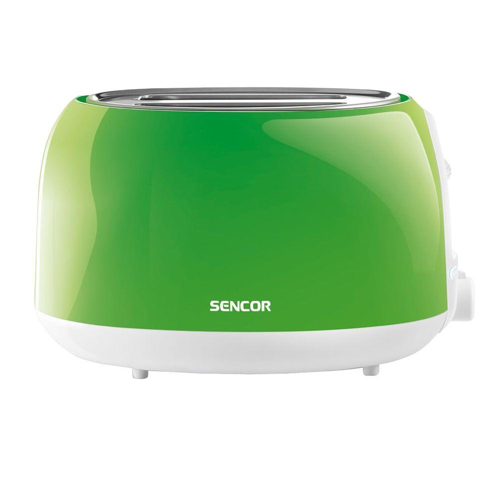 2-Slice Solid Green Toaster Automatic centering function for even toasting of thick and thin toasts. High lift function for easy removal of smaller toasts. Electronic timer - 6 toasting intensity levels. Color: Green.