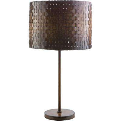 Reginald 30 in. Dark Bamboo Indoor Table Lamp