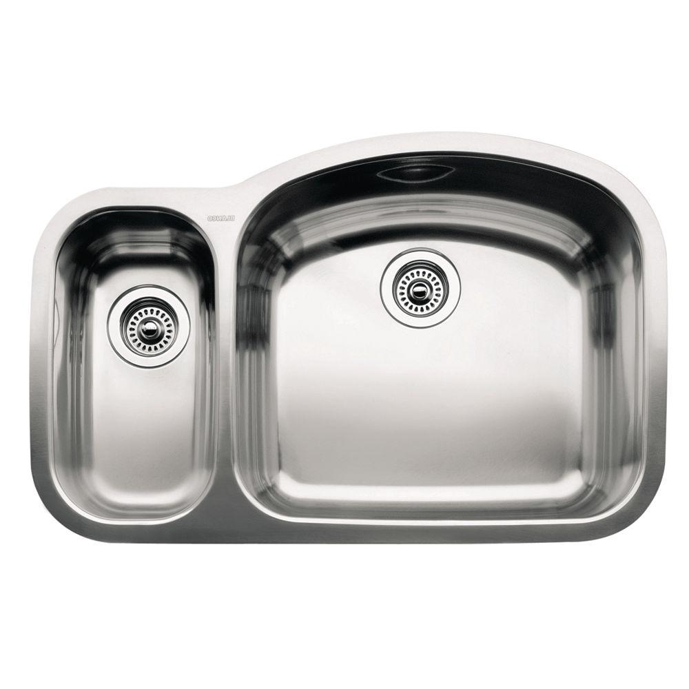 Blanco wave undermount stainless steel 32 in reverse 1 12 bowl blanco wave undermount stainless steel 32 in reverse 1 12 bowl kitchen workwithnaturefo
