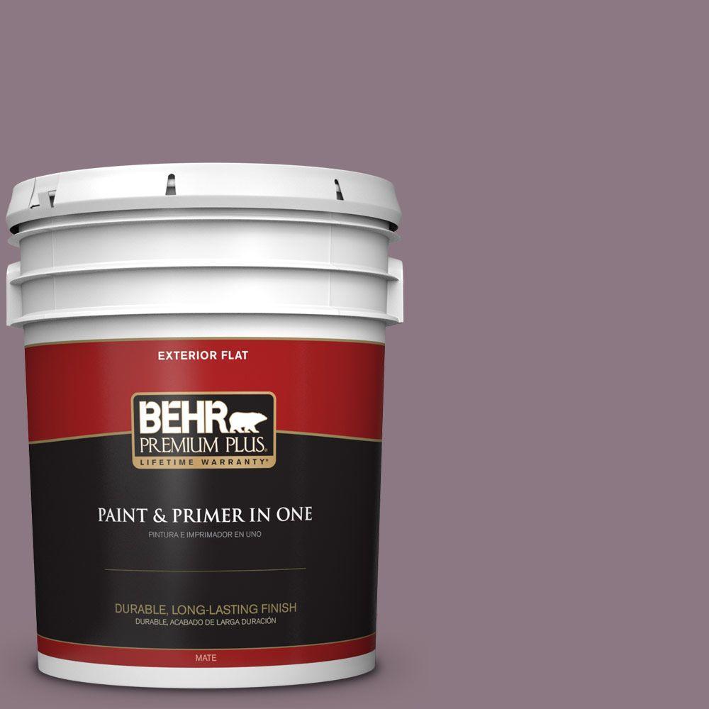 BEHR Premium Plus 5-gal. #BNC-20 Purple Rubiate Flat Exterior Paint