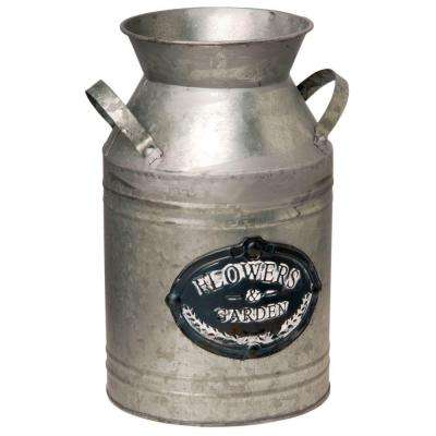 12 in. Garden Accents Antique Milk Can