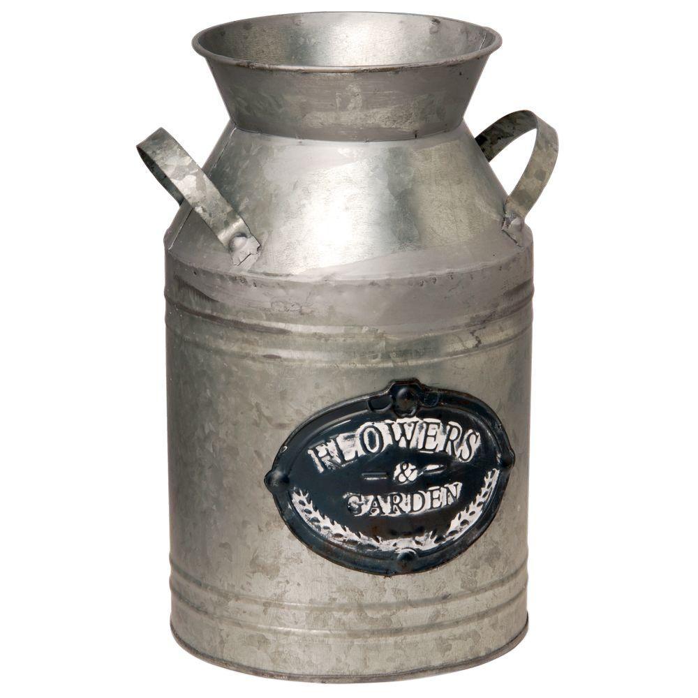 12 in. Garden Accents Antique Milk Can