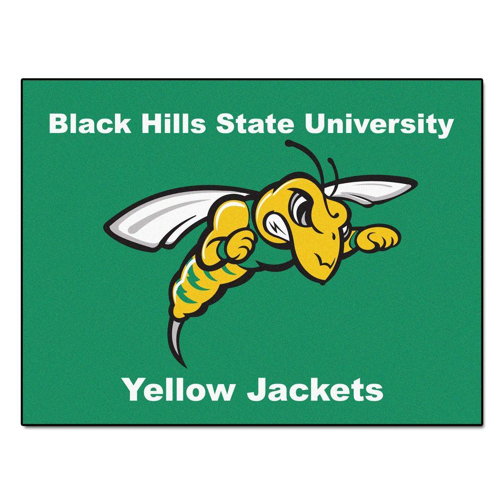 Fanmats Ncaa Black Hills State University Green 2 Ft 10