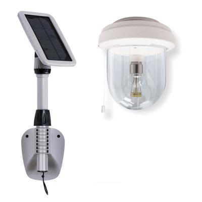 Light My Shed IV Solar Shed Light Clear Outdoor Integrated LED Area Light with GS Solar LED Light Bulb