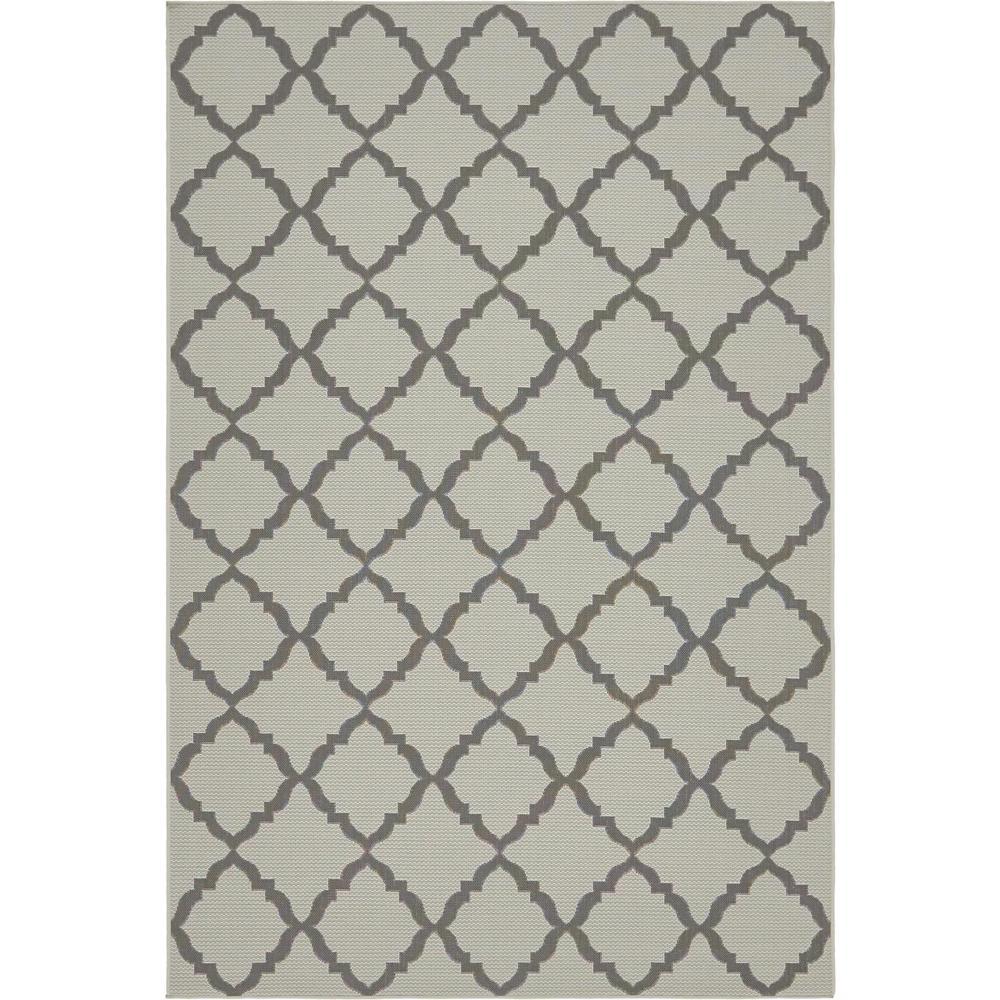 Outdoor Gray 6' x 9' Indoor/Outdoor Rug