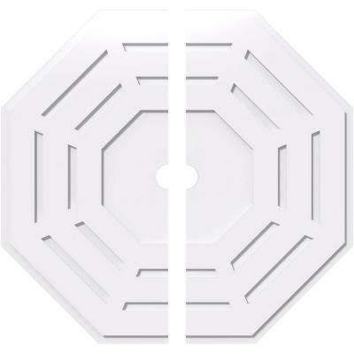 40 in. OD x 3 in. ID x 1 in. P Westin Architectural Grade PVC Contemporary Ceiling Medallion (2-Piece)