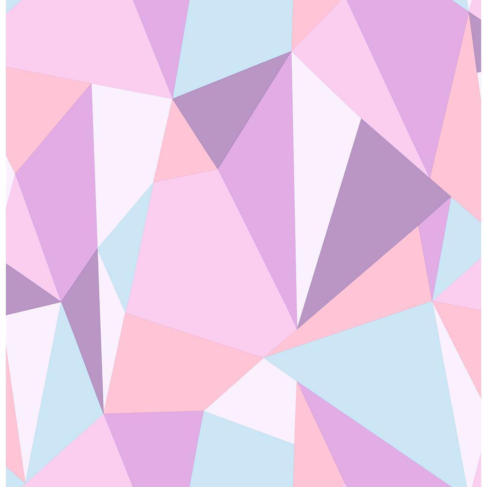 Brewster 56 4 Sq Ft Kline Purple Facet Wallpaper Hn002623 The