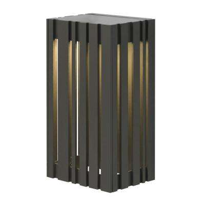 Uptown 1-Light Bronze Outdoor LED Small Wall Light