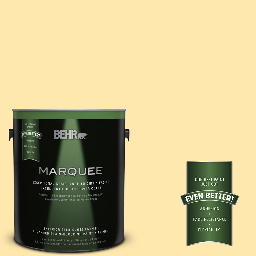 BEHR MARQUEE 1-gal. #P290-2 Sweet as Honey Semi-Gloss Enamel Exterior Paint