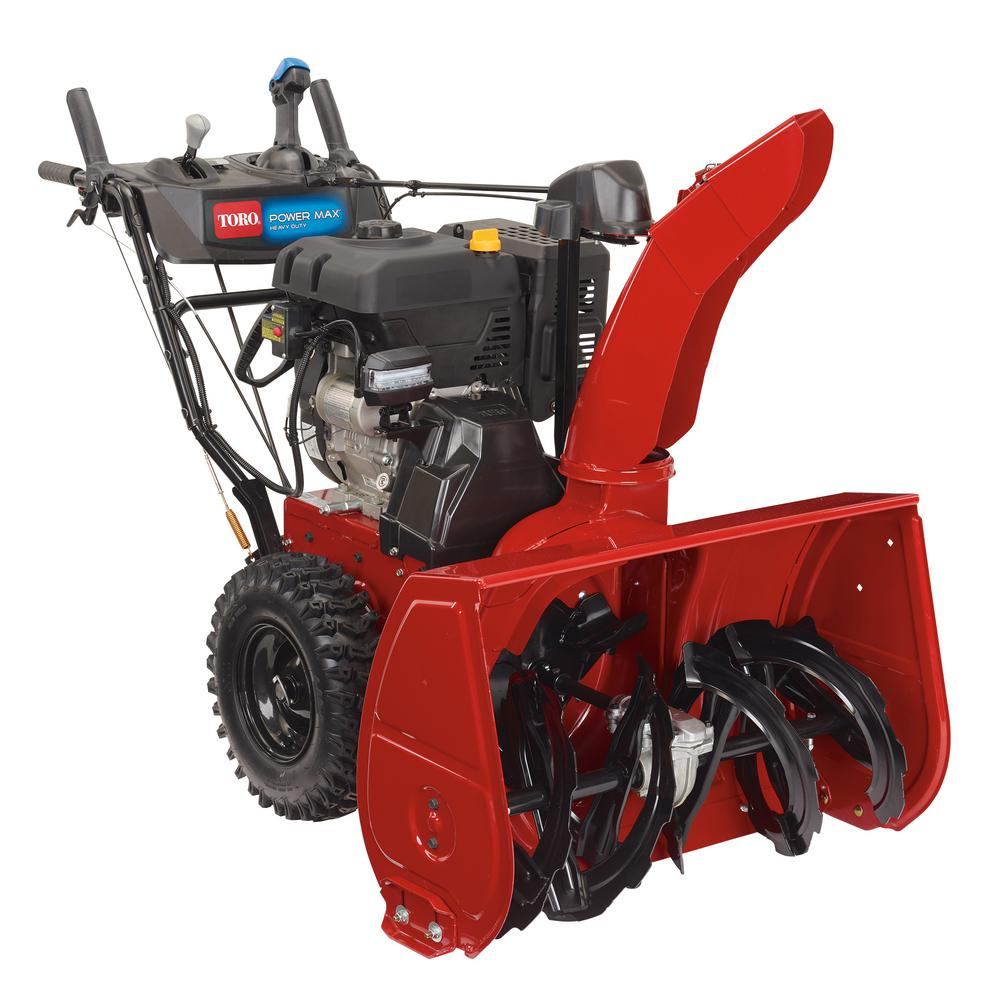 Toro Power Max Hd 1028 Ohxe 28 In 302cc Two Stage Electric Start Gas Snow Blower 38841 The Home Depot