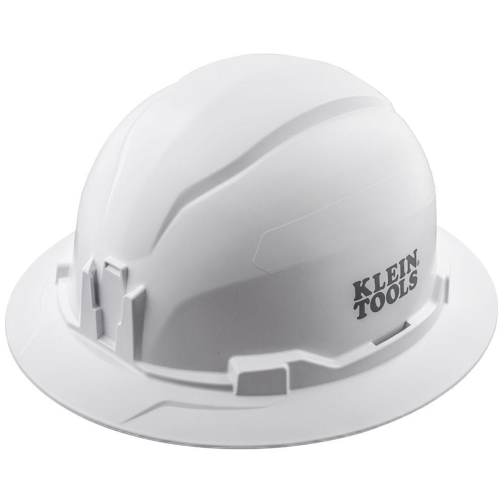 Hard Hat, Non-Vented, Full Brim Style, White