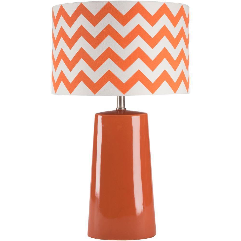 Caprotti 24 in. Orange Indoor Table Lamp