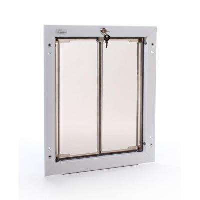 11.75 in. x 16 in. Large White Wall Mount Dog Door Requires No Replacement Flap
