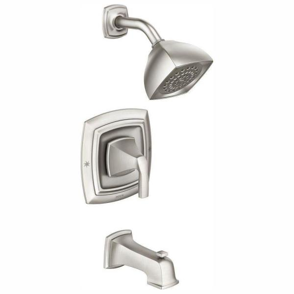Hensley Single-Handle 1-Spray Tub and Shower Faucet in Spot Resist Brushed Nickel (Valve Included)