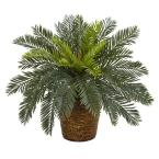 15 in. Cycas Artificial Plant in Basket