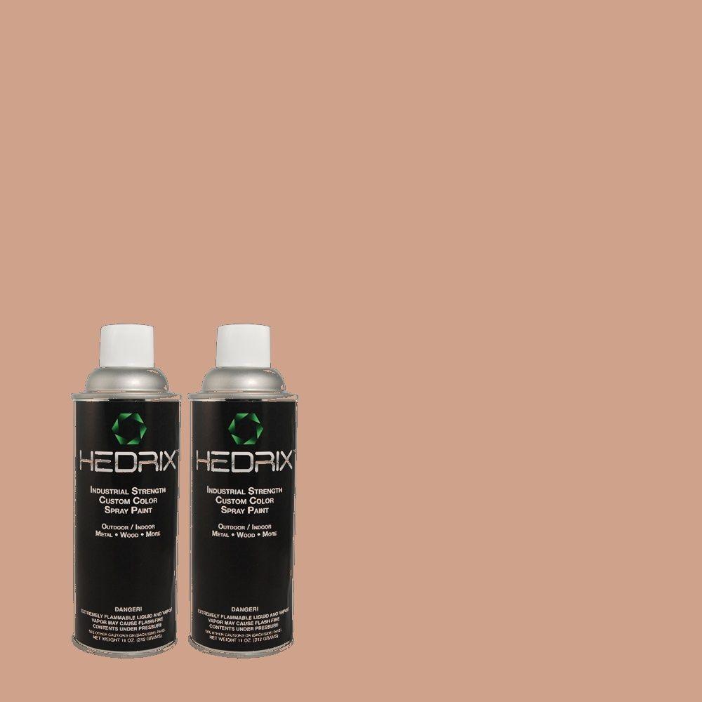 Hedrix 11 oz. Match of 820 Coral Reef Flat Custom Spray Paint (2-Pack)
