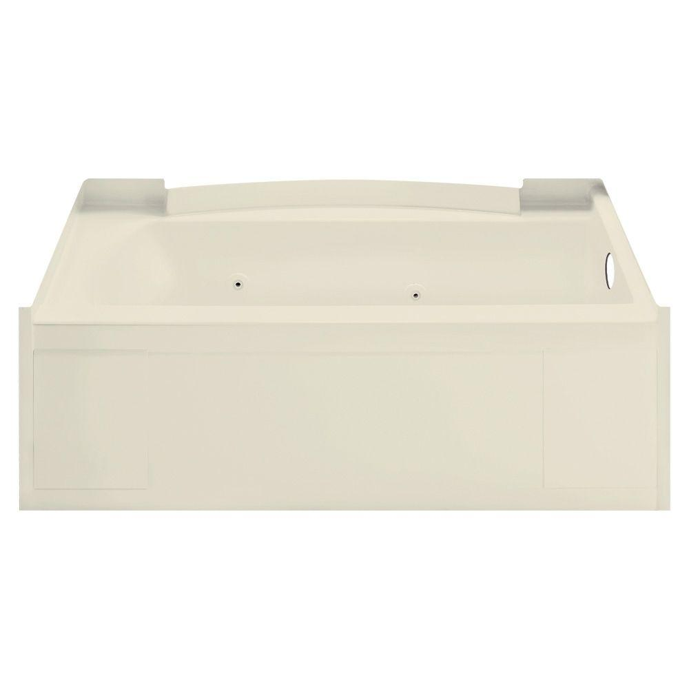 STERLING Accord 5 ft. Whirlpool Tub with Right-Hand Drain in White