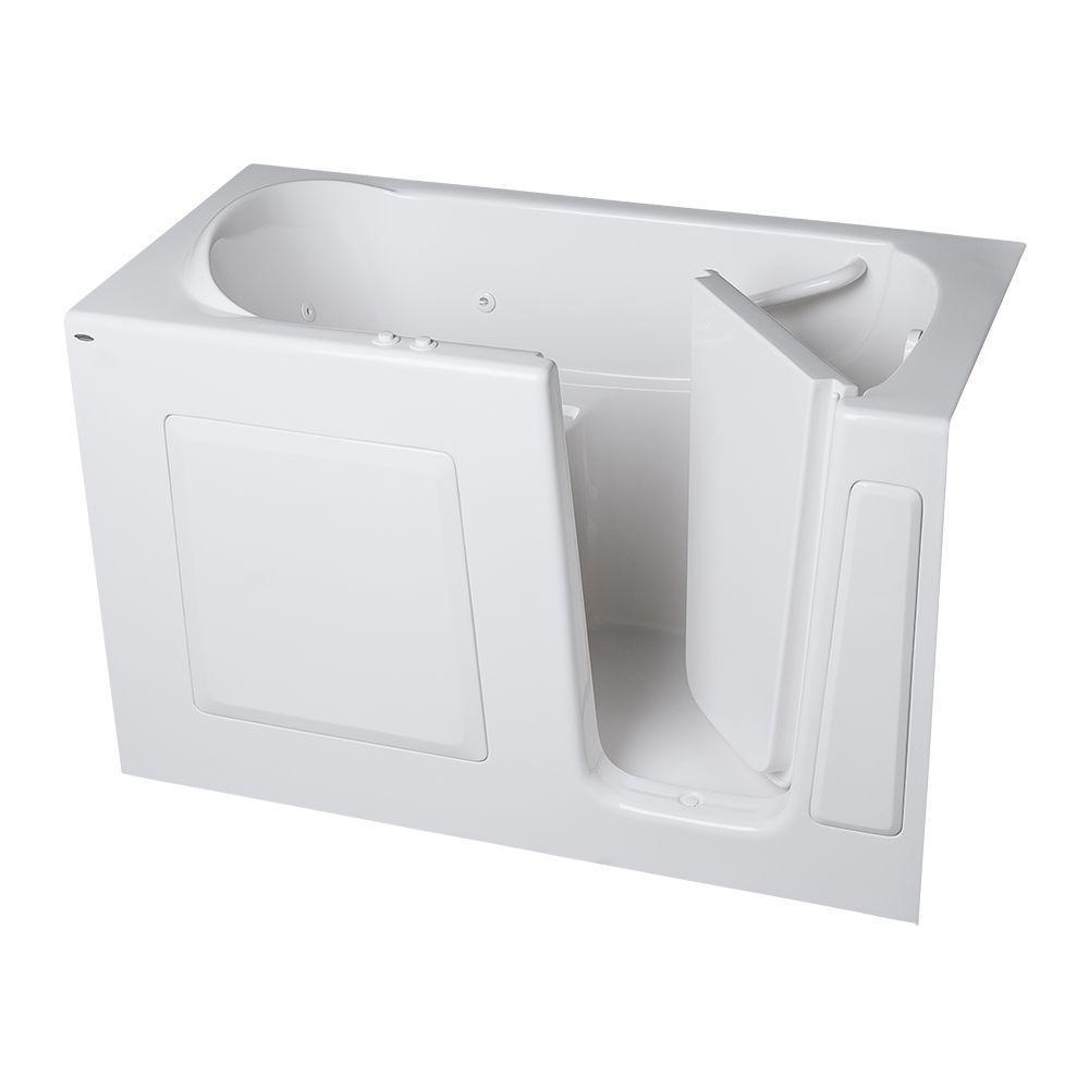 American Standard Gelcoat Standard Series 60 in. x 30 in. Walk-In Whirlpool and Air Bath Tub in White