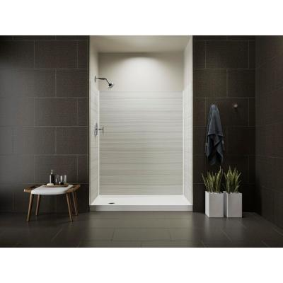 Choreograph 32 in. x 60 in. x 72 in. Shower Kit with Left Hand Drain in VeinCut