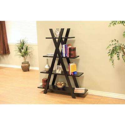 Coffee Bean 4-Shelf Bookcase