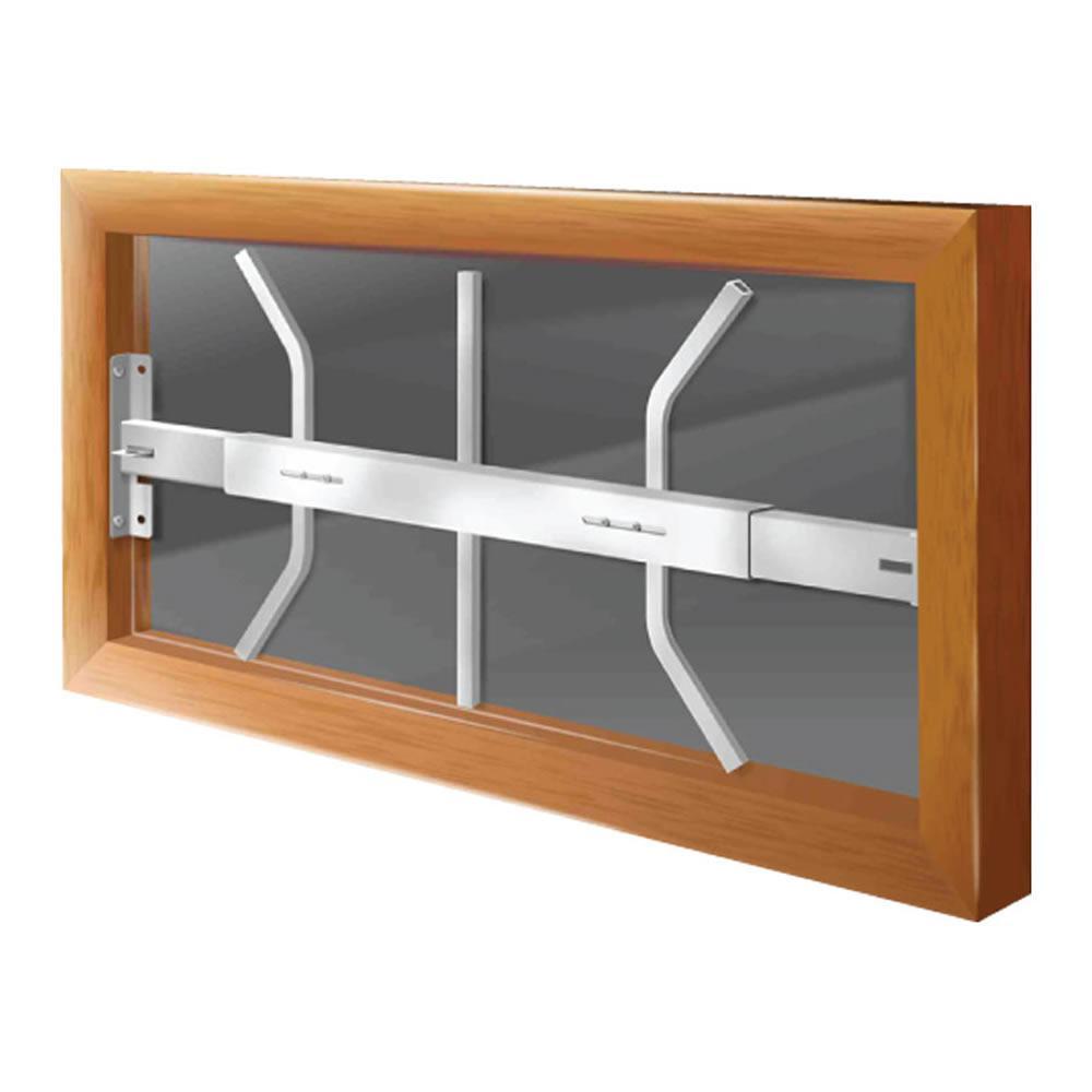 Swing-Away 21 in. to 28 in. Adjustable Width 1-Bar Window Guard