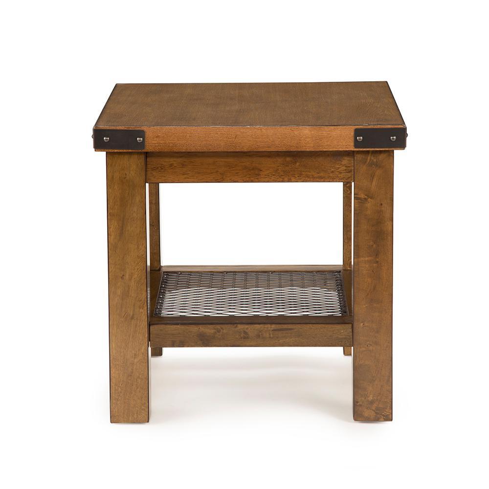 Hailee distressed oak end table