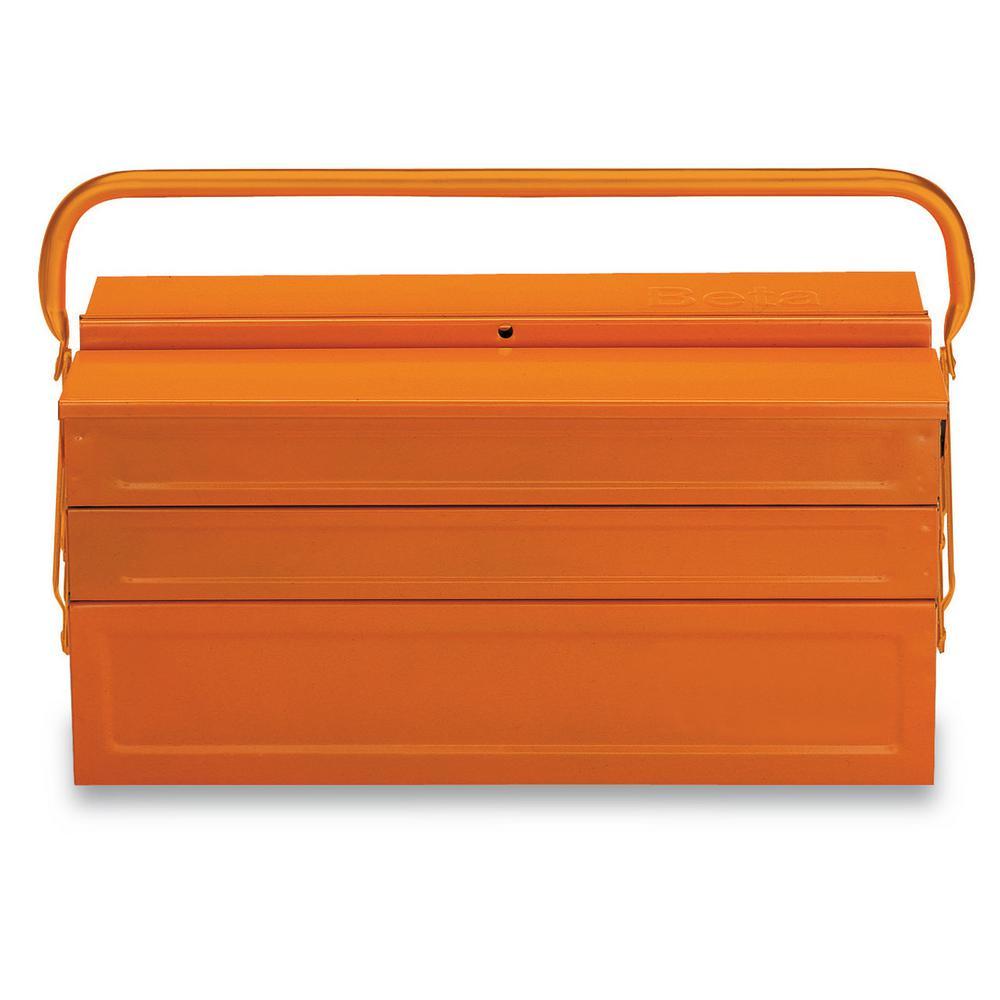 Beta 8 in. x 18 in. Cantilever Sheet Metal Tool Box in Orange