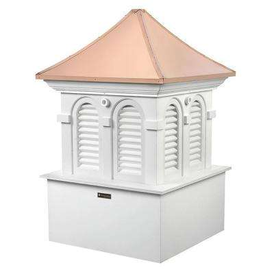 Smithsonian Alexandria 26 in. x 37 in. Vinyl Cupola with Copper Roof