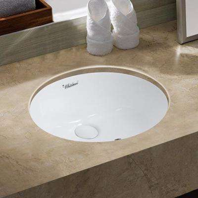 Isabella Plus Collection 18 in. Oval Vessel Sink in White