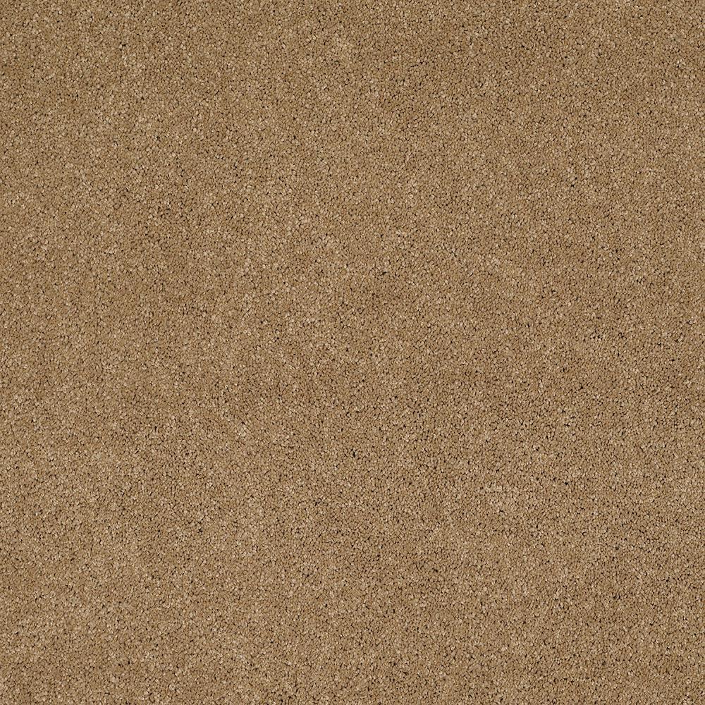 LifeProof Carpet Sample - Coral Reef I - Color Burnwood Texture 8 in. x 8 in.