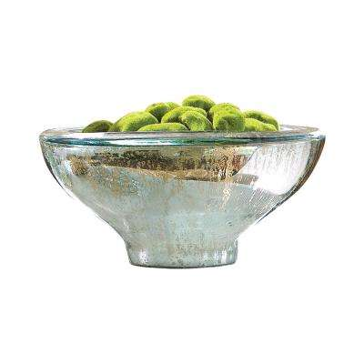 Aria 16 in. Decorative Bowl in Antique Silver
