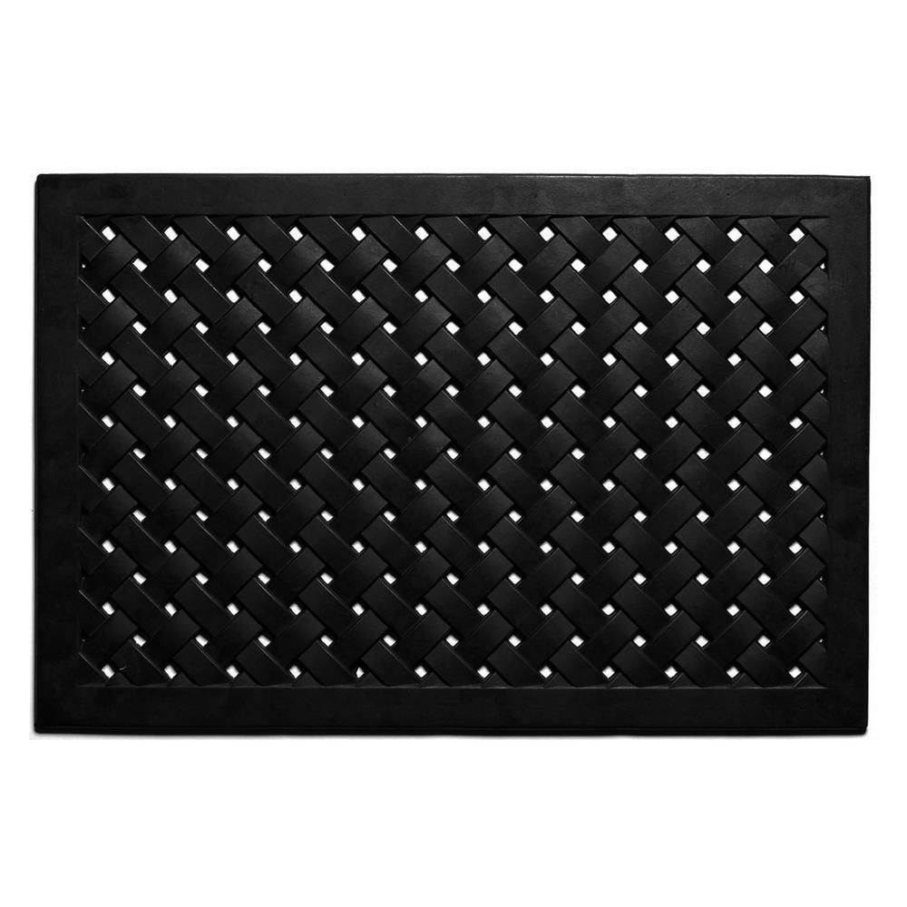 Hampton Weave Rubber Doormat 18 in. x 30 in.