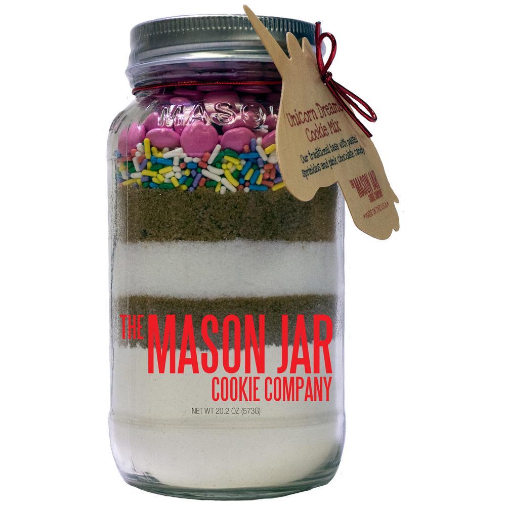 Unicorn Dreams Cookie Mix in a Mason Jar
