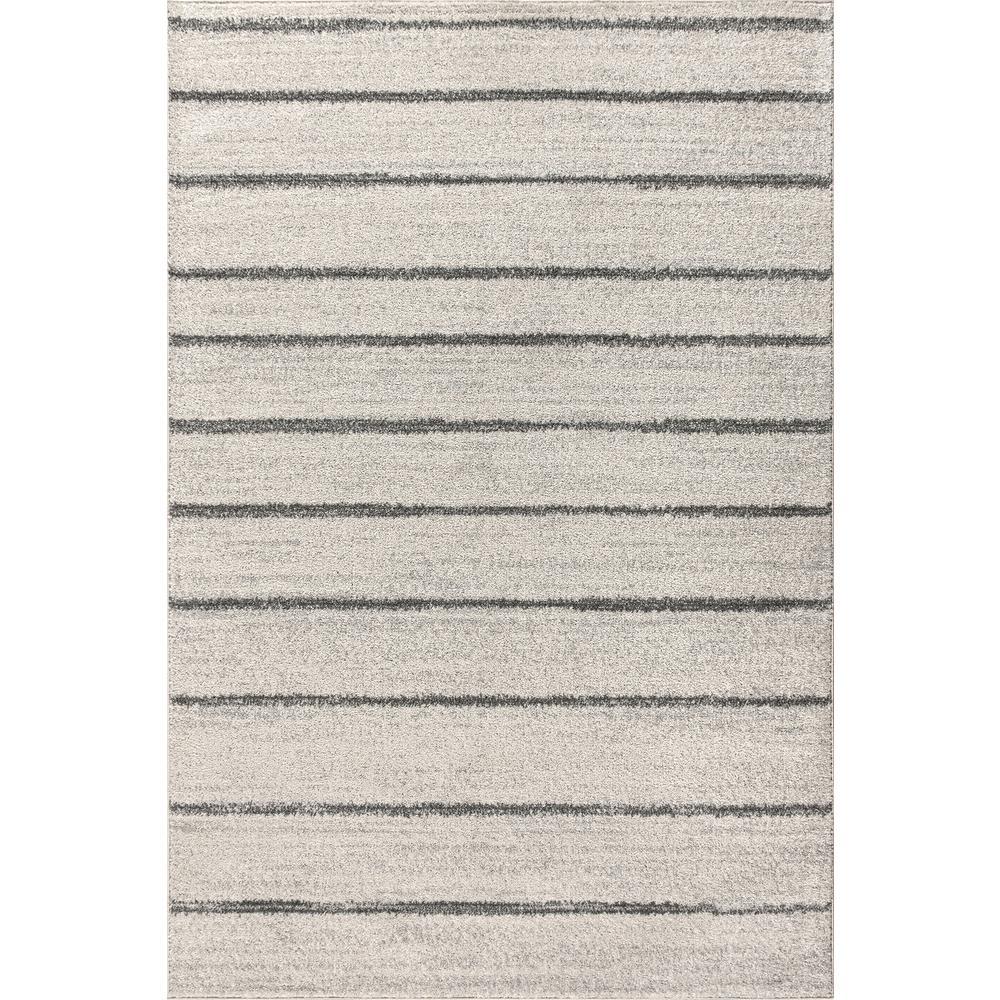 Cream/Gray 8 ft. x 10 ft. Williamsburg Minimalist Stripe Area Rug