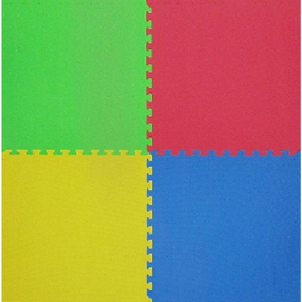 4-Piece Interlocking Multi 50 in. x 50 in. EVA Floor Mat Set