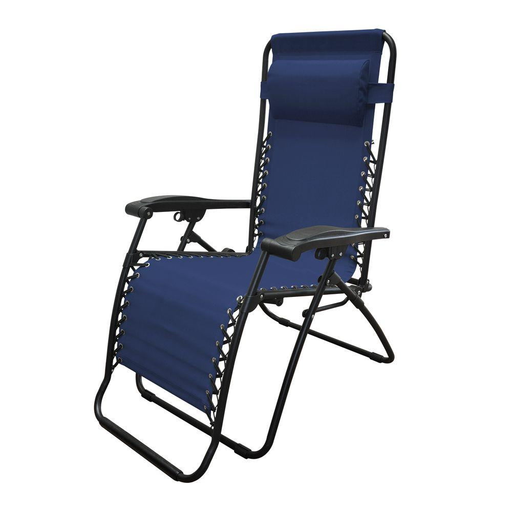 Caravan Sports Infinity Blue Zero Gravity Patio Chair 80009000020   The  Home Depot