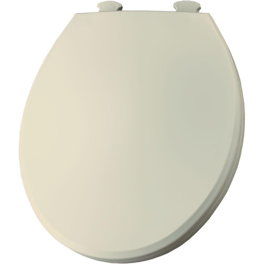 BEMIS Round Closed Front Toilet Seat in Bone