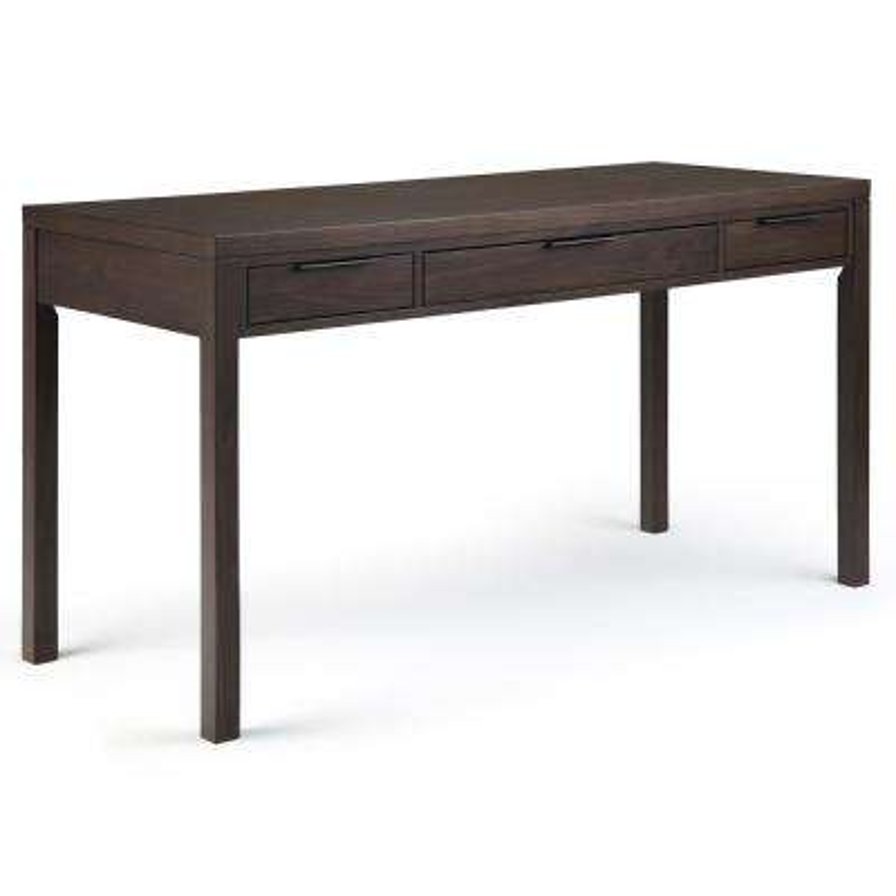 Hollander Solid Wood Modern Contemporary 60 in. Wide Desk in Warm Walnut Brown