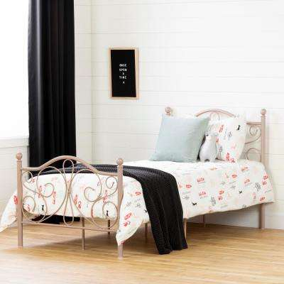 Summer Breeze Pink Blush Twin Bed