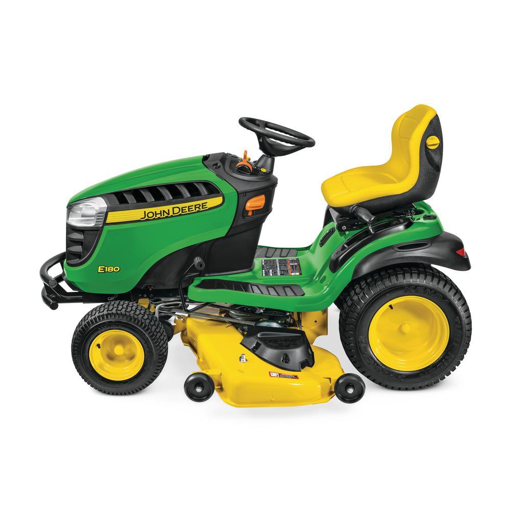 John Deere E180 54 in  25 HP V-Twin ELS Gas Hydrostatic Lawn Tractor -  California Compliant